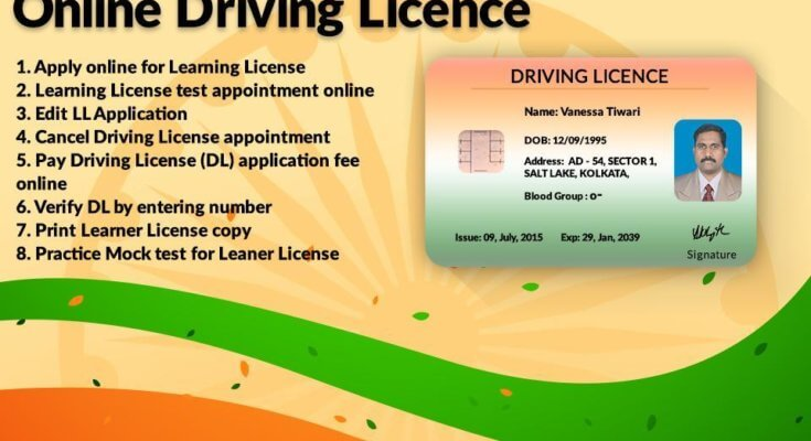 How to get a driving license DL online application, application form - Online Driving License Apply
