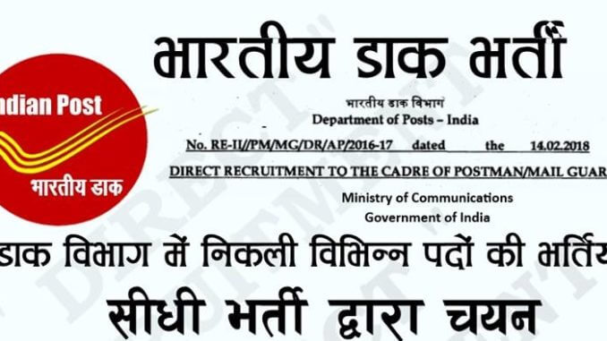 Gramin Dak Sevak Recruitment 2020 | India Post GDS Recruitment (10066 Vacancy), Online Application Form