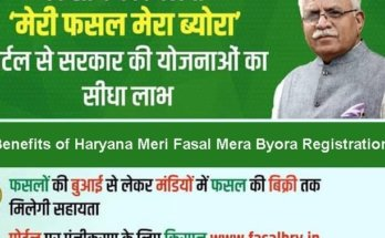 My crop My details Haryana | Portal, online application, farmer registration | Meri Fasal Mera Byora Online Registration Form 2020