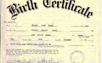 Uttar Pradesh Birth Certificate