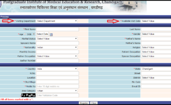 PGI Chandigarh Online Registration | PGI Chandigarh Online Appointment