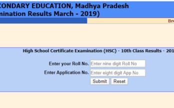 Madhya Pradesh 12th Result 2020