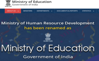 Who is the current education minister of India?