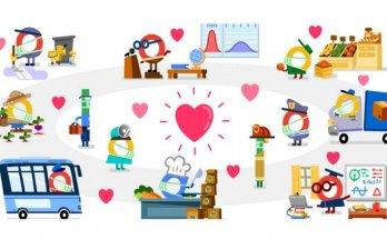 Thank You Coronavirus Helpers Google Doodle